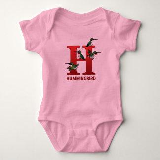 H is for Hummingbird Baby Bodysuit