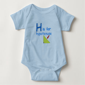 H is for Hypotenuse Baby Bodysuit