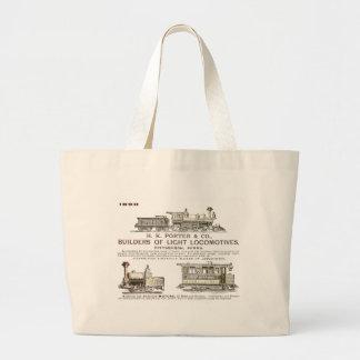 H K Porter & Company Railroad Locomotives Jumbo Tote Bag