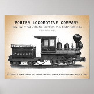 H K Porter Locomotive Company Class B-T4 Print