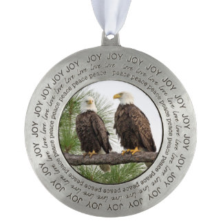 H&O Holiday Ornament Round Pewter Ornament
