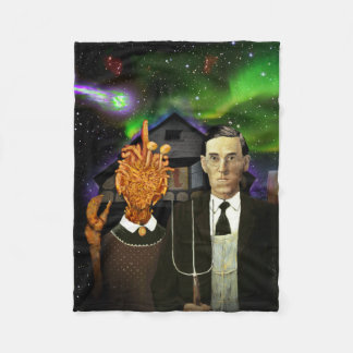 H.P. Lovecraft & Mi-Go Lovecraftian Gothic blanket