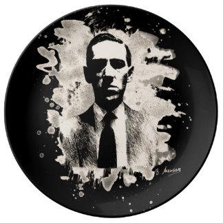 H.P. Lovecraft of tributes Porcelain Plates