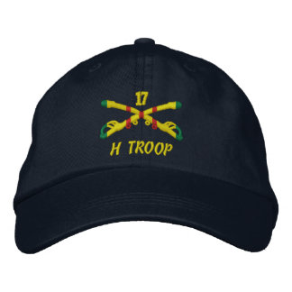 H Troop 17th Cavalry Embroidered Hat