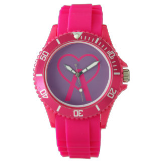 H&X Pink A~Heart Watch