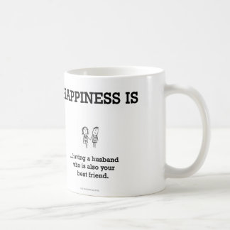 HA803: Happiness Husband Best Friend Coffee Mug