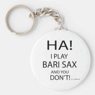 Ha Bari Sax Basic Round Button Keychain