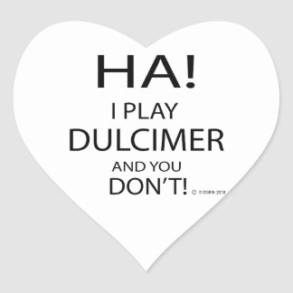 Ha Dulcimer Heart Sticker