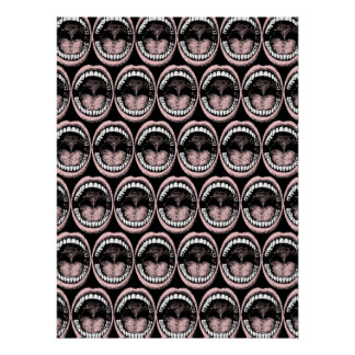 Haaa!!! Open Wide Mouth Pattern Poster