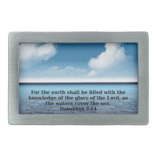 Habakkuk 214 bible verse quote belt buckle