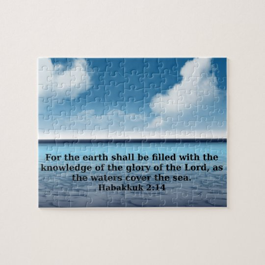 Habakkuk 214 bible verse quote jigsaw puzzle