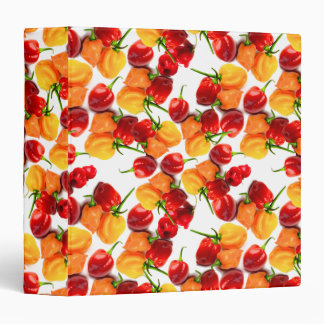 Habanero Chilies Red Peppers Orange Hot Food 3 Ring Binder
