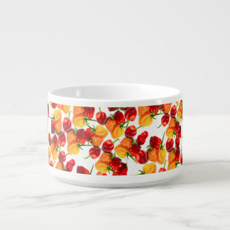 Habanero Chilies Red Peppers Orange Hot Food Bowl