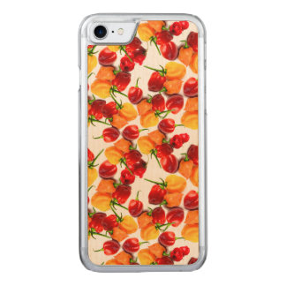 Habanero Chilies Red Peppers Orange Hot Food Carved iPhone 8/7 Case