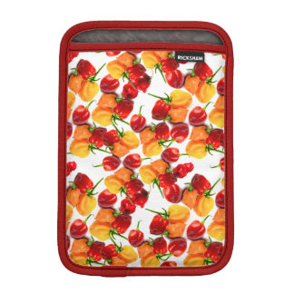 Habanero Chilies Red Peppers Orange Hot Food iPad Mini Sleeve