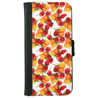 Habanero Chilies Red Peppers Orange Hot Food iPhone 6 Wallet Case