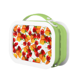 Habanero Chilies Red Peppers Orange Hot Food Lunch Box