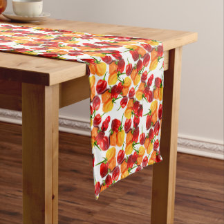 Habanero Chilies Red Peppers Orange Hot Food Medium Table Runner