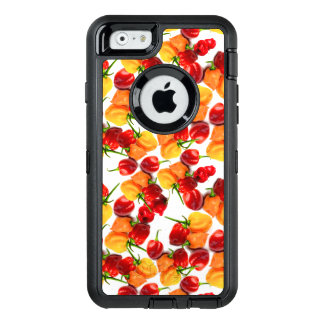 Habanero Chilies Red Peppers Orange Hot Food OtterBox Defender iPhone Case