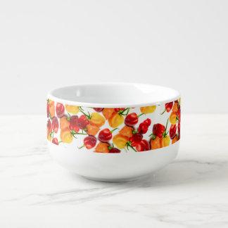 Habanero Chilies Red Peppers Orange Hot Food Soup Mug