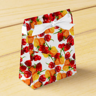 Habanero Chilies Red Peppers Orange Hot Food Wedding Favor Box