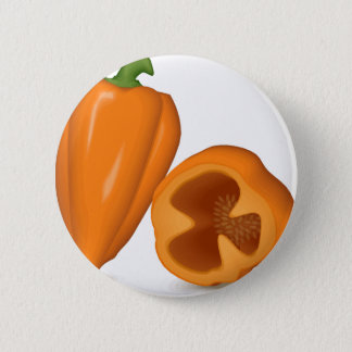 Habanero Peppers 2 Inch Round Button