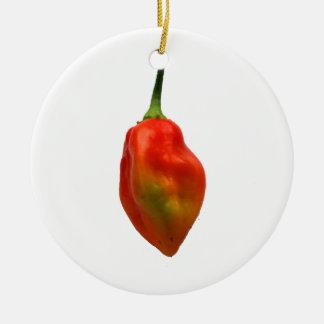 Habanero Single Pepper Photograph Ceramic Ornament