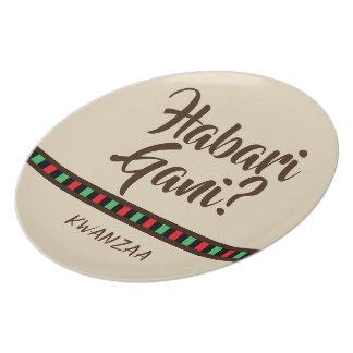 Habari Gani - Kwanzaa items | Melamine Plate