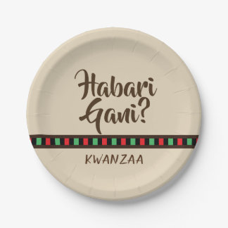 Habari Gani - Kwanzaa items | Paper Plate