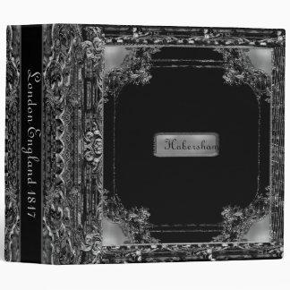 Habersham Onyx2  PersonalizedMonogram Vinyl Binder