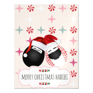 Habibi Eggs Magnet Christmas Card