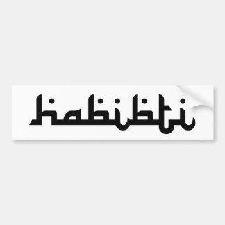 Habibti artistique autocollant de voiture