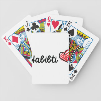 Habibti Bicycle Playing Cards