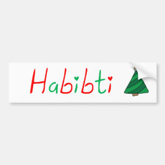 Habibti Bumper Sticker