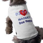 Habillement d'animal familier d'aimant de chien d' tee-shirts pour chien