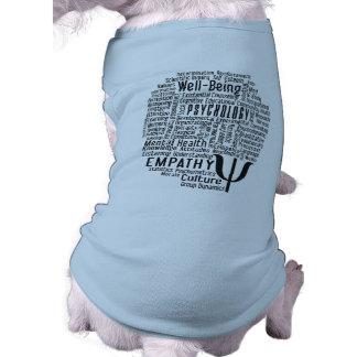 Habillement d'animal familier de nuage de mot de t-shirt pour animal domestique