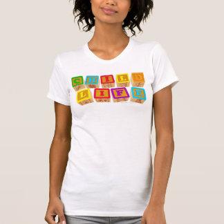 """Habillement de """"blocs"""" de la vie d'enfant t-shirts"""