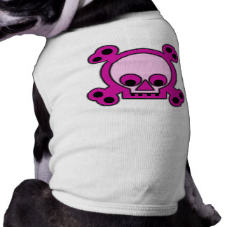 Habillement rose punk impertinent d'animal tee-shirt pour chien