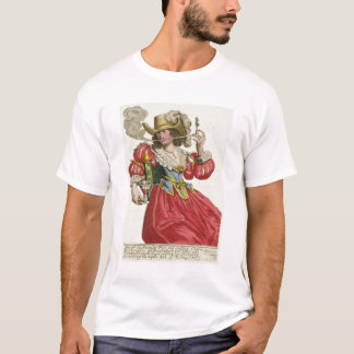 Habit of a wealthy lady about 1630 (coloured engra T-Shirt
