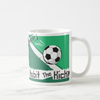 Habit the kick - soccer - play on words coffee mug