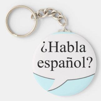 ¿Habla español Do you speak Spanish Keychain