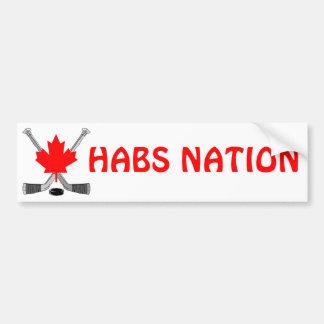 HABS NATION BUMPER STICKER