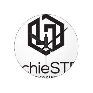 HachieSTEM Black Logo Clocks