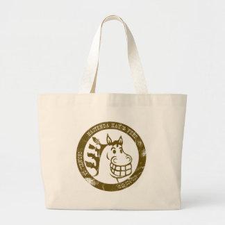 Hacienda Hay & Feed Brown Faded logo Bag