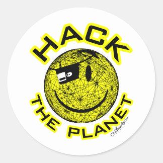 Hack the Planet Round Sticker