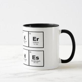 """hacker betches"" STEM chemistry coffee mug"