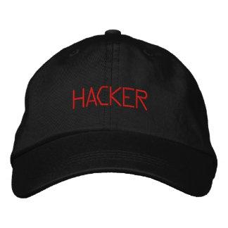 Hacker Black Embroidered Hat