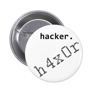 Hacker h4x0r 2 inch round button