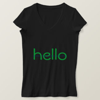 Hacker Hello and Bye Binary Message Tee