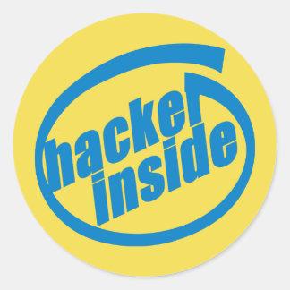 Hacker Inside 3 inch Sticker (sheet of 6)